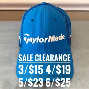 TAYLORMADE Blue Golf Cap SALE CLEARANCE 3 for 15